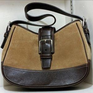 Exc Condition Vintage Coach Suede/Leather Bag